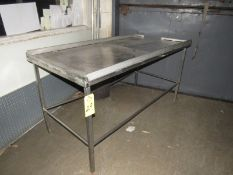 "Stainless Steel Table, 34"" W X 6' L X 36"" T (Required Rigging Fee: $20 Contact Norm Pavlish at"