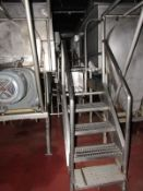Stainless Steel Platform Between Blenders, 2' W X 9' L X 5' T , stainless steel grated tops, (5)