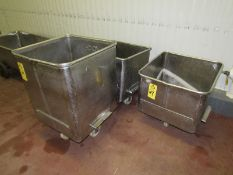Lot (2) 400 Lb. Dump Buggies, (1) 600 Lb Dump Buggy (Required Rigging Fee: $20 Contact Norm