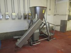 "Stainless Steel Vacuum Load Hopper with bucket loader, 10"" outlet (Required Rigging Fee: $200"
