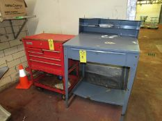 Lot Foremans Desk & Toolbox (Required Rigging Fee: $20 Contact Norm Pavlish at Nebraska Stainless