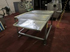 Stainless Steel Stuffing Table, 4' W X 7' L (Required Rigging Fee: $50 Contact Norm Pavlish at