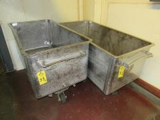 """Stainless Steel Meat Trucks, 29"""" wide x 58"""" long x 24"""" deep (Required Rigging Fee: $20 Contact"""