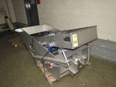 "Key Mdl. 437965-1 Stainless Steel Vibratory Conveyor, Ser. #09-213147-1, 2' W X 8' L X 8"" D ("