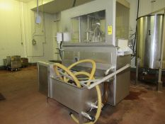 "Metalquimia Mdl. Pickle Injector, 12 needles, walking beam conveyor, 16"" W X 5' L, stainless steel"