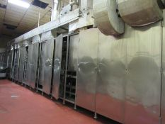 "Stainless Steel Continuous Oven, triple pass oven, 40"" wide belt X approximately 70' long tunnel"