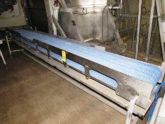 "Stainless Steel Frame Conveyor, 16"" W X 13' L plastic belt, stainless steel, 208/230/460 volt"