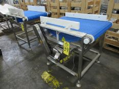 "Stainless Steel Conveyor, 24"" W X 38"" L plastic belt, 3 phase, stainless steel motor Located in Pla"