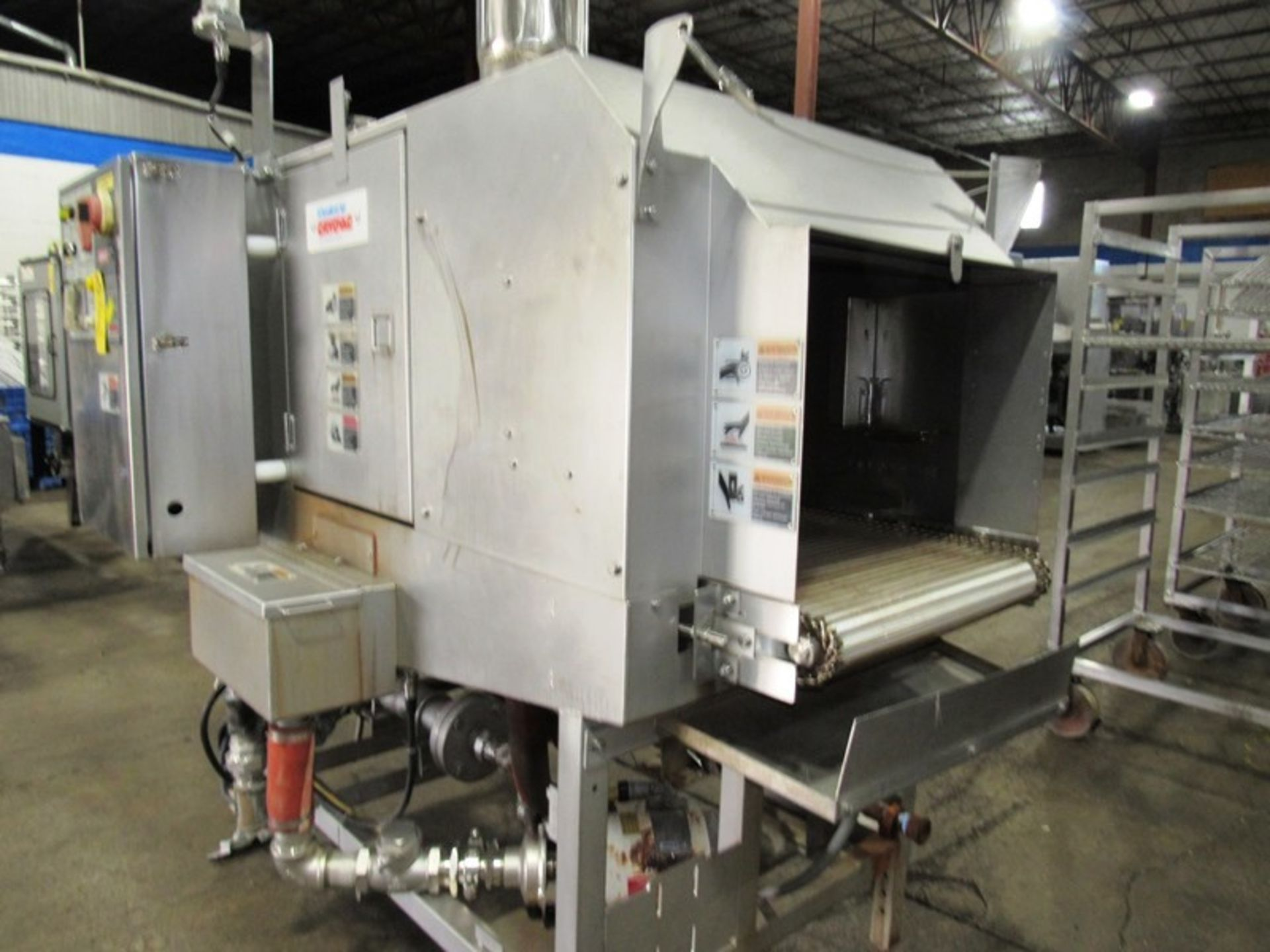 """Cryovac Mdl ST101 Steam/Hot Water Shrink Tunnel, 24"""" Wide X 18"""" Tall X 77"""" Long tunnel, 2 h.p. - Image 3 of 8"""