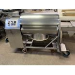 Daniels Vacuum Tumbler, 500 Lbs. capacity, No vacuum pump. 110V/1PH/60HZ Skid fee $ 125.00, Located