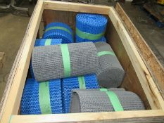 "Lot of (10) Rolls, (3) Gray Rolls, 20"" wide, (7) Blue Rolls, 12"" wide, Located in Plano, Illinois"