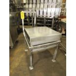 "Stainless Steel Scale, 24"" X 24"" top, no scale head on stand, Located in Plano, Illinois (Equipment"