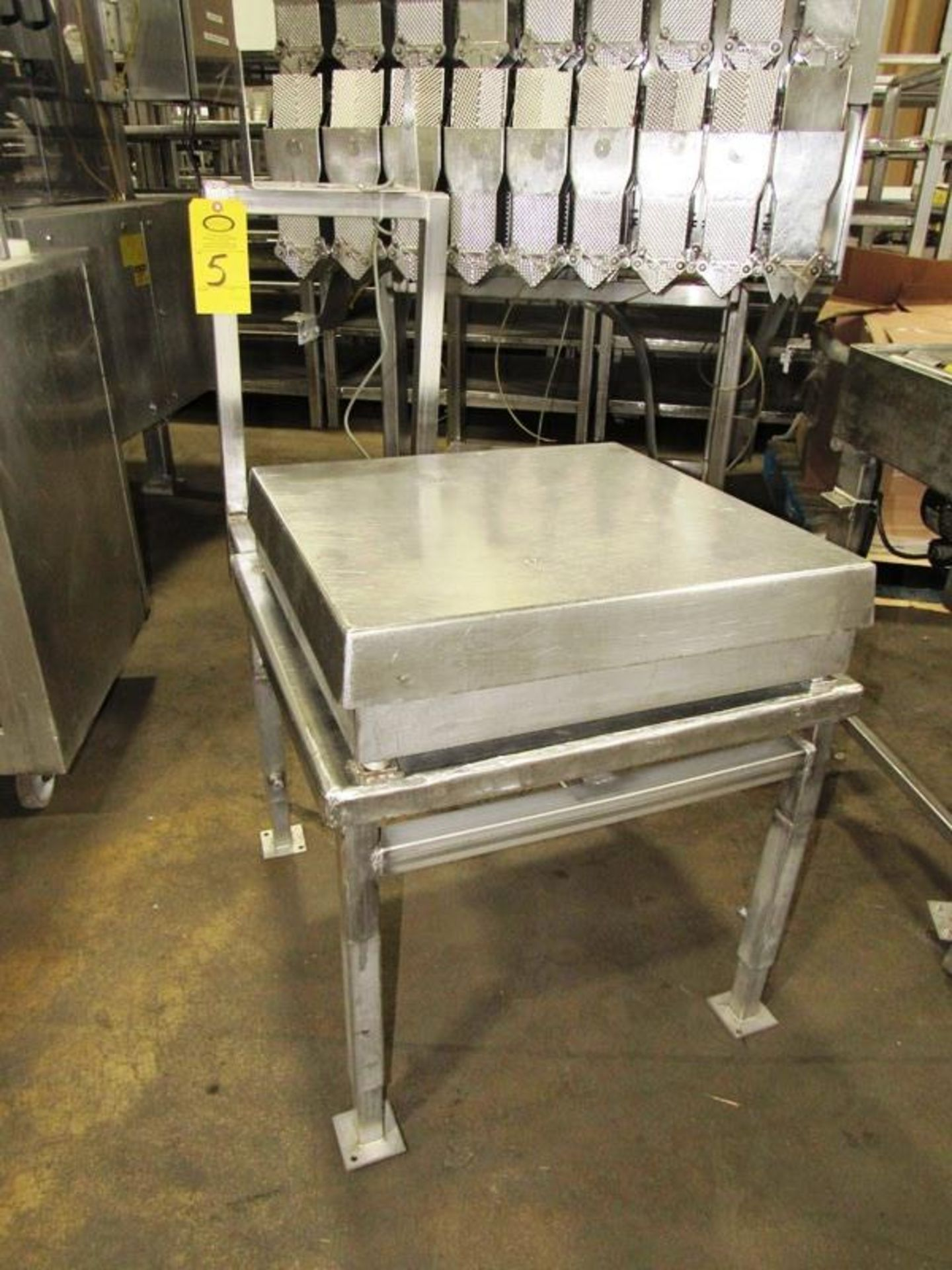 """Stainless Steel Scale, 24"""" X 24"""" top, no scale head on stand, Located in Plano, Illinois (Equipment"""