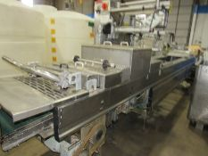 "Multivac Rollstock Thermoformer Packaging Machine, 16 5/8"" between chains, approx. 13 1/2"""