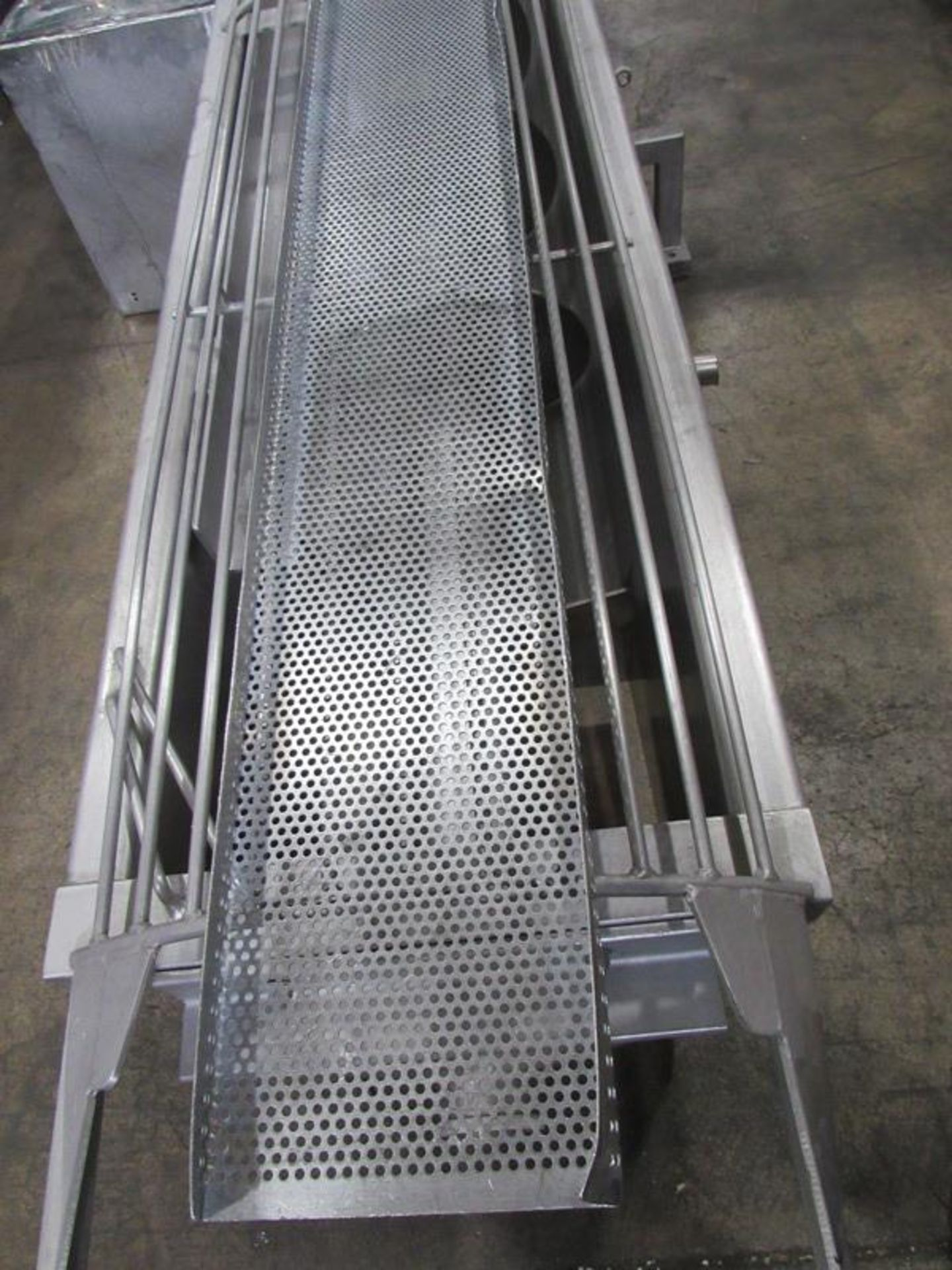 "Portable Stainless Steel Cart, 43"" W X 52"" L X 5' T, 34 removable perforated trays, 8"" W X 48"" L ( - Image 3 of 3"