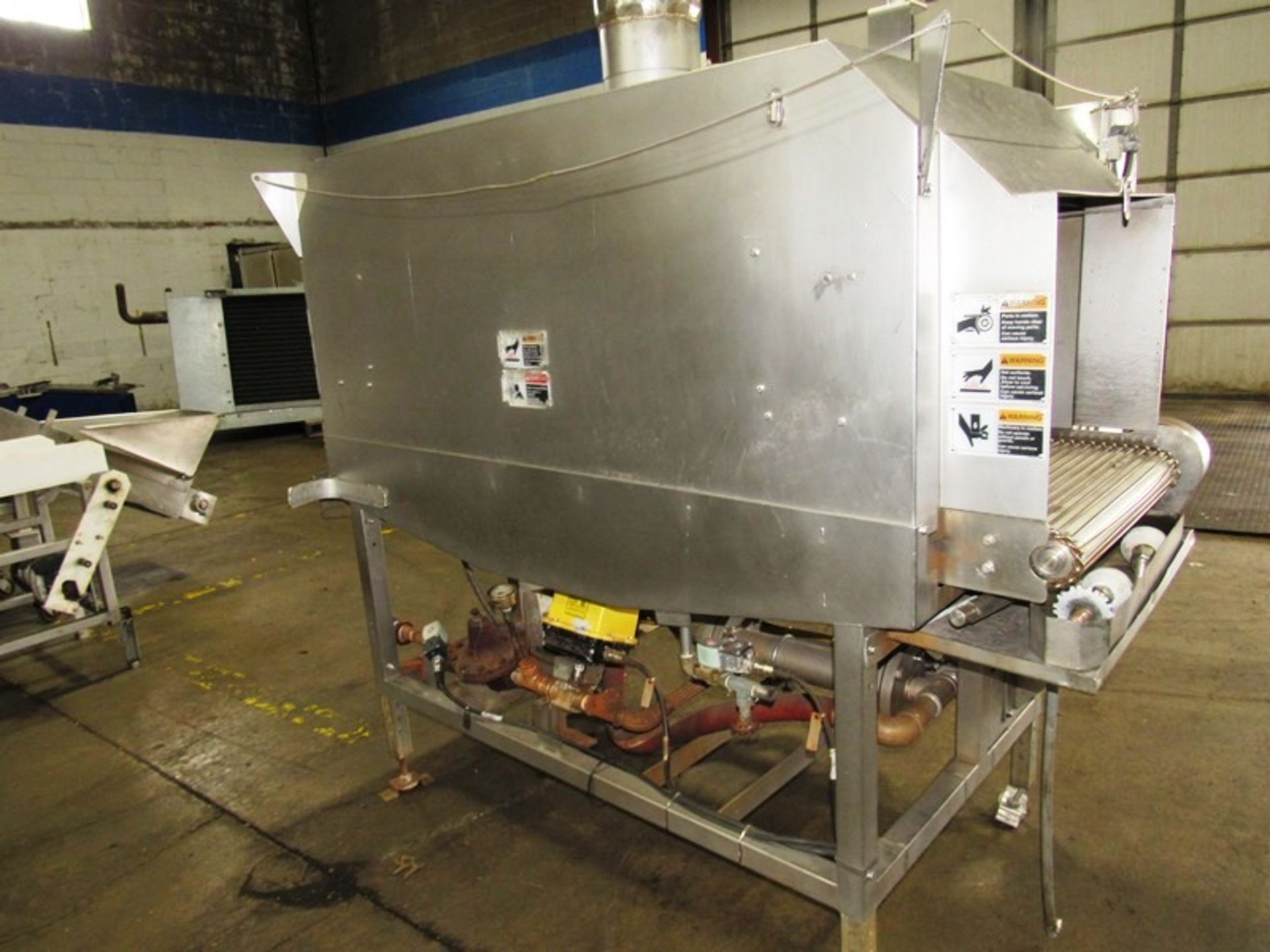 """Cryovac Mdl ST101 Steam/Hot Water Shrink Tunnel, 24"""" Wide X 18"""" Tall X 77"""" Long tunnel, 2 h.p. - Image 2 of 8"""