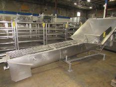 """MTC Mdl. MTC16-11 Stainless Steel Screw Conveyor, 16"""" Dia. X 11' L screw, 5' W X 5' L hopper, ("""