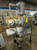 Leybold Mdl. SV300 Vacuum Pump on stainless steel cart with Booster Mdl. AV1001, 10 h.p., 230/460