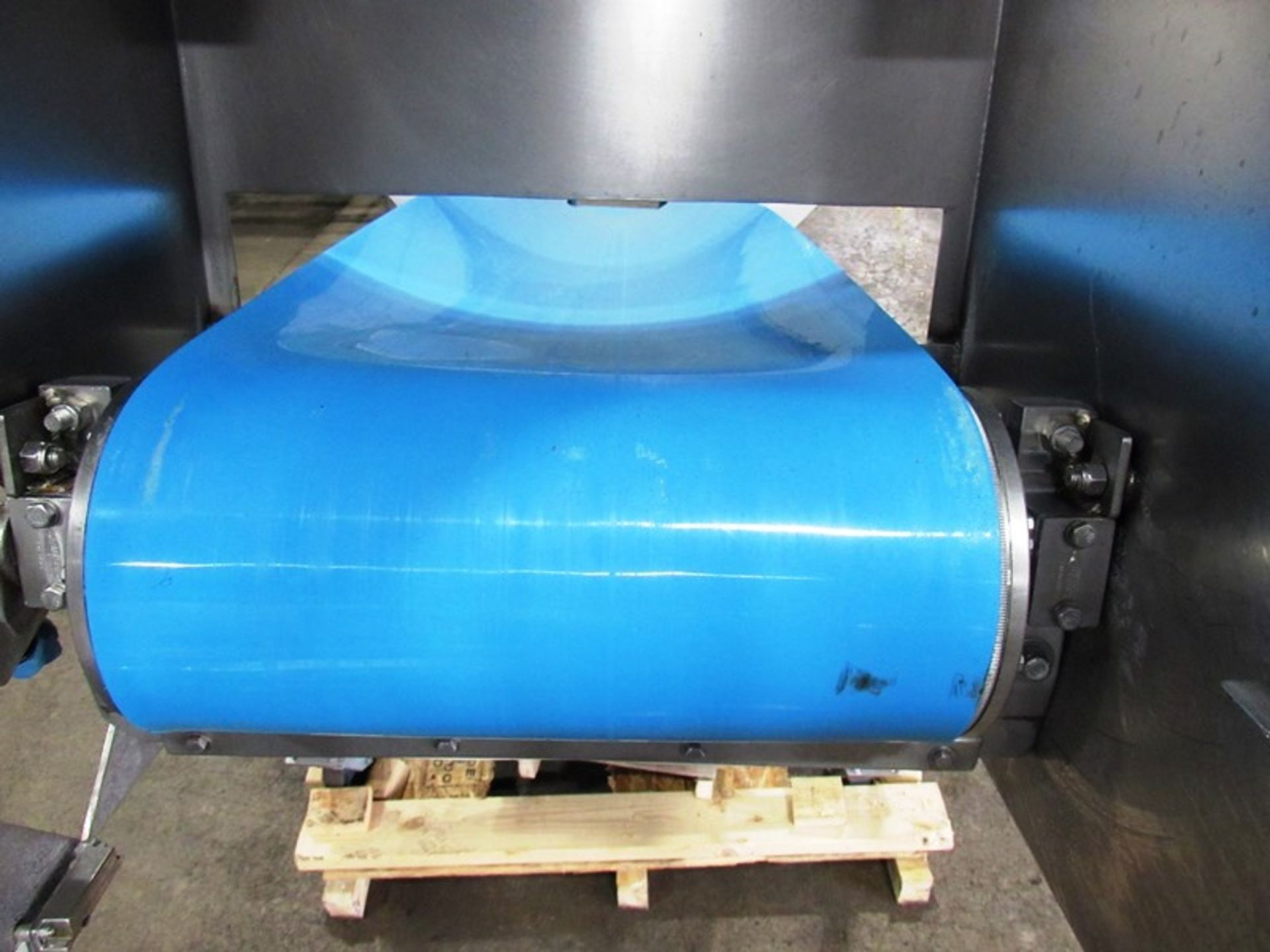 "Stainless Steel Incline Conveyor, 18"" Wide X 11' Long neoprene beltk 12"" inveed, 5' discharge, drum - Image 4 of 5"