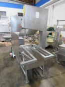 AEW Mdl. 400 Band Saw, aluminum frame, missing top blade guide, wheel has been modified with