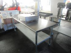 """Portable Stainless Steel Table, 30"""" W X 5' L (Required Rigging Fee: $50.00-Payment Must Be"""