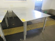 Stainless Steel Table, 4' W X 8' L X 4' T (Required Rigging Fee: $50.00-Payment Must Be Received