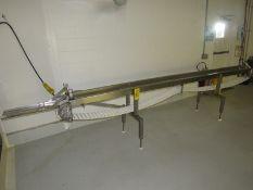 "Stainless Steel Conveyor, 8"" W X 13' L plastic belt, stainless steel 230 volt motor (24"" W X 14' L"