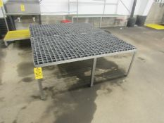 Stainless Steel Work Platform, 5' W X 6' L chemgrate top (Required Rigging Fee: $50.00-Payment