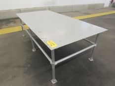 """Stainless Steel Table, 4' W X 8' L X 32"""" T (Required Rigging Fee: $50.00-Payment Must Be Received by"""