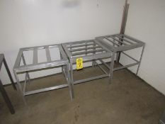 """Lot of (3) Aluminum Tote Racks, 24"""" W X 24"""" L X 26"""" T (Required Rigging Fee: $50.00-Payment Must"""