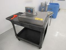 "Doran Mdl. 8000XL Stainless Steel Digital Scale, 24"" X 24"" stainless steel top, 200 Lb. capacity ("