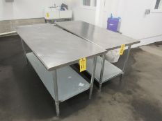"""Stainless Steel Table, 30"""" W X 6' L (Required Rigging Fee: $50.00-Payment Must Be Received by"""