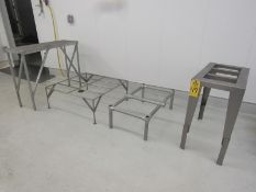Lot of (2) Stainless Steel Dunnage Racks, (1) Stainless Steel Tote Rack & (1) Stainless Steel