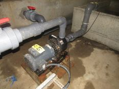 Pacer Pumps Mdl. SE3LL Centrifugal Pump on Leeson 5 H.P. 230/460 volt Motor, 3 phase (Required