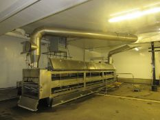 """Praxair Cold Front Stainless Steel CO2 Straight Tunnel Freezer, (3) 9' long sections with 42"""" Wide X"""