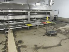 """Stainless Steel Work Platform, 24"""" W X 16' L with 5' long attachment, missing tops (Required Rigging"""