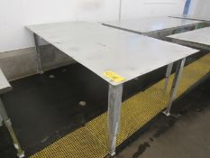 Stainless Steel Table, 4' W X 8' L X 4' T ($50.00-Payment Must Be Received by Thursday, July 22nd.