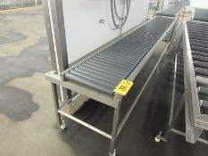 """Lot of (2) Stainless Steel Frame Roller Conveyors, 15"""" wide rollers by 10' long (Required Rigging"""