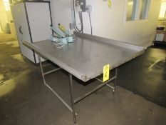 """Stainless Steel Table, 41"""" W X 63"""" L with 2"""" sides (Required Rigging Fee: $50.00-Payment Must Be"""