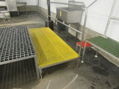 """Stainless Steel Work Platform, 32"""" W X 7' L chemgrate top, handrail (Required Rigging Fee: $50.00-"""