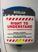 ECOLAB WALL MOUNTED SAFETY STATION