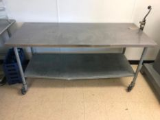 """72"""" X 30"""" STAINLESS TABLE W/ MOUNTED OPENER"""