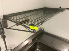 """(2) 48"""" X 18"""" WALL MOUNTED WIRE SHELVES"""