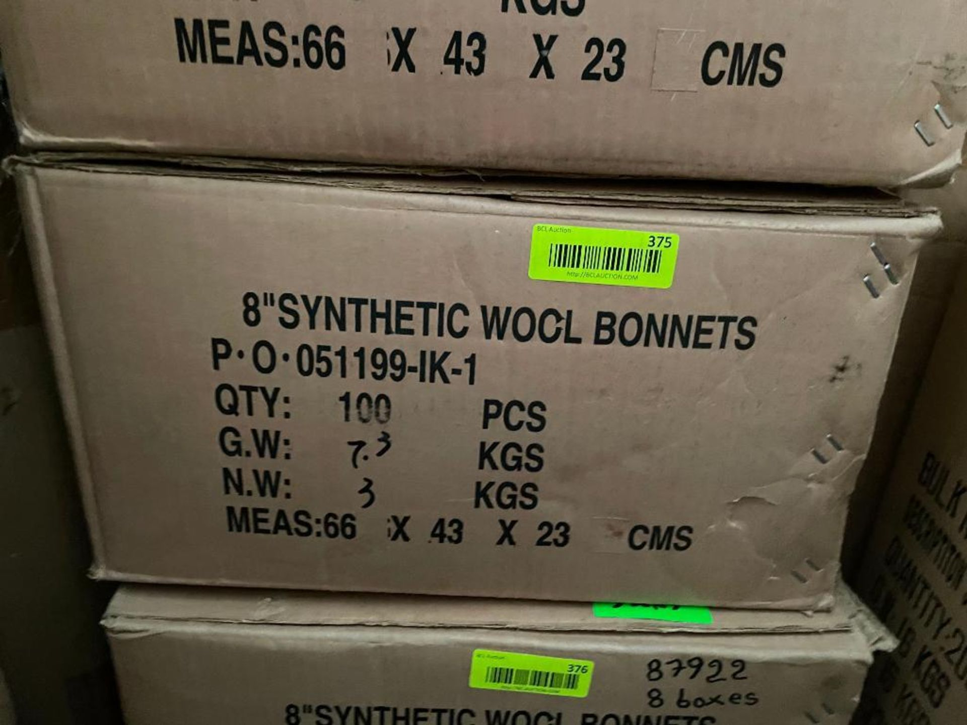 """100CT 8"""" SYNTHETIC WOOL BONNETS BRAND/MODEL EAZYPOWER 87922 ADDITIONAL INFO TOTAL LOT RETAIL PRICE: - Image 2 of 3"""