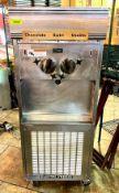 DESCRIPTION SOFT SERVE ICE CREAM MACHINE WITH 2-FLAVOR OPTIONS AND A SWIRL OPTION BRAND/MODEL ELECTR