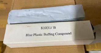 DESCRIPTION: (6) CASES OF BLUE PLASTIC BUFFING COMPOUND. 100 PER CASE, 600 IN LOT BRAND / MODEL: EAZ