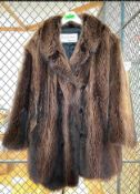 FURS BY VICTOR MENS FUR COAT LOCATION WOODWORKING CAGE ROOM QUANTITY 1