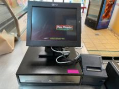DESCRIPTION: (2) TERMINAL NCR TOUCH SCREEN POS SYSTEM W/ BACK OFFICE COMPUTER, (3) TABLETS, AND MONI