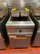 DESCRIPTION: FRYMASTER MJCFSE 80 LB. GAS FRYER W/ BASKETS BRAND / MODEL: FRYMASTER MJCFSE ADDITIONAL