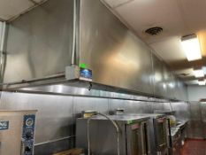 DESCRIPTION: 28' STAINLESS HOOD SYSTEM WITH FIRE SUPPRESSION SYSTEM, ADDITIONAL INFORMATION EXHAUST